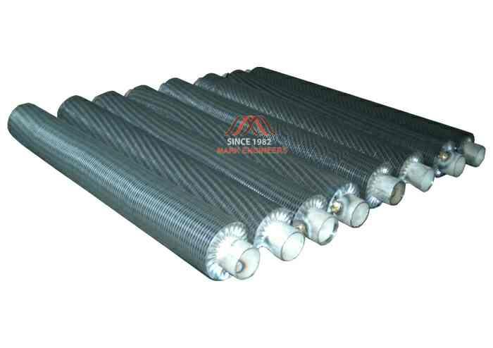 FINNED TUBE HEAT EXCHANGERS   Supplier of FINNED TUBE HEAT EXCHANGERS in Ahmadabad Supplier of FINNED TUBE HEAT EXCHANGERS in Surat Supplier of FINNED TUBE HEAT EXCHANGERS in Vapi - by MARK ENGINEERS, Ahmedabad