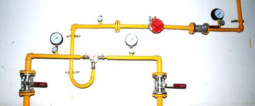 Gas piping: Gas system is nothing but supplying the LPG through special LPG pipeline network. This system is most sought of in residential projects in all metro cities. In Gas Piping LPG cylinders are stored in a cylinders bank at the groun - by Dolphin Gas Systems Pvt Ltd, Bangalore