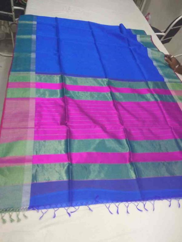 Maheshwari silk Saree in Banglore  Shop now at www.maheshwarihandloom.com  - by Maheshwari Handloom, Maheshwar