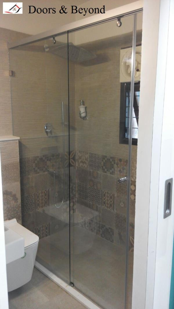 Shower Partition Erected at Ramaniyam Eden - by Doors & Beyond, Chennai
