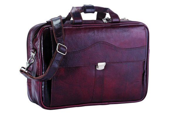 Item Code: KK-92510 Material: Leather  Executive Bag   - by Kakkoo Birdy's -Leather Gift Items, New Delhi