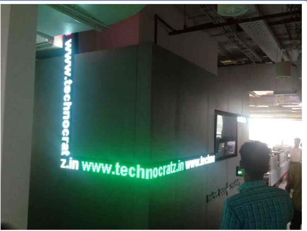LED tickers for Office.  LED Stock market tickers in India New Delhi. for details www.technocratz.in  - by Led videowall manufacturer, New Delhi