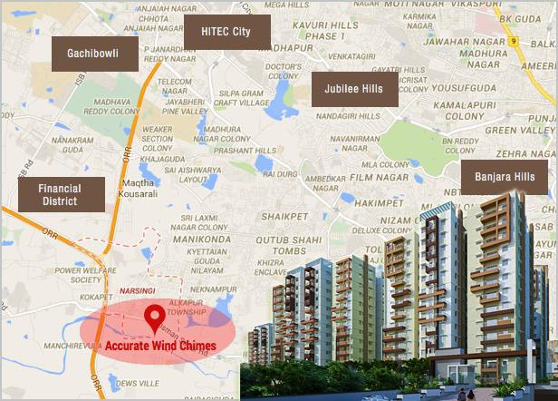 Apartments for sale at Gachibowli:   Hyderabad is being proposed as the second capital of the country. It is presently the capital of Andhra Pradesh and Telangana, It is the largest contributor to the state's gross domestic product. Hyderab - by Accurate Wind Chimes Call 04039560530, Hyderabad
