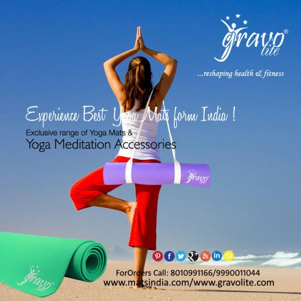 Searching best quality and design of Yoga Mat in Delhi. We (Matsindia) design Yoga Mats with best quality materials and have largest collection of Yoga Mat, premium yoga mats, double layer yoga mats, triple layer yoga mats, cotton yoga mats - by Gravolite Yoga Mats, Delhi