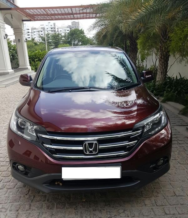HONDA CR V AT 4WD:MODEL 01/2014, KM 41990, COLOUR RED, FUEL PETROL, PRICE 21, 00, 000 NEG.USED VEHICLE FOR SALE COMPLEAT SHOWROOM TRACK. - by Nani Used Cars, Hyderabad