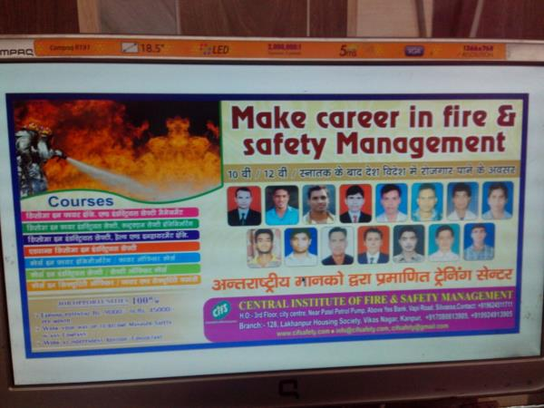 Fire Safety Course Fire Safety Course in India Golden Opprtunities for Diploma Students CIFSAFETY is leading Fire safety Institute in Uttar Pradesh, with 100% placement record Registration is going on for NEBOSH and IOSH for More Details call to Central Institute of Fire & Safety Management 7080813905 / 9924913905  www.cifsafety.com