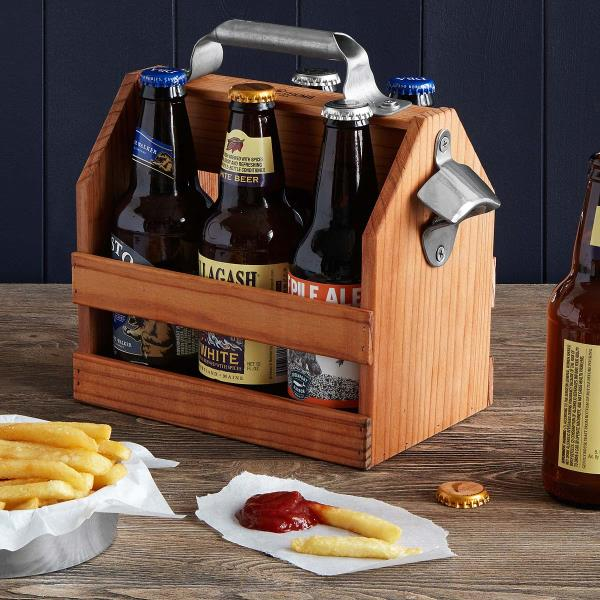 Wooden Beer Caddy with Bottle Opener. Wholesaler for bottle openers in Delhi..  - by Welcome To PCN Household Products, Delhi