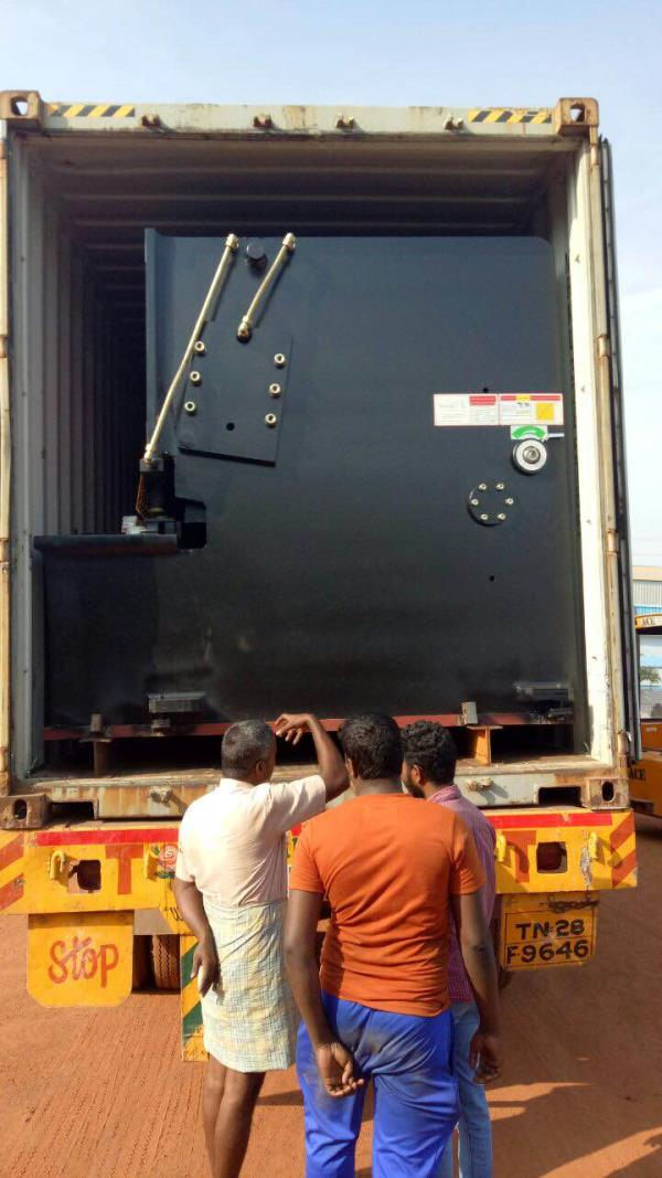 Arrival of 10 x 6000 mm shear at our customers factory  - by GMT ENGINEERS (P) LTD, chennai
