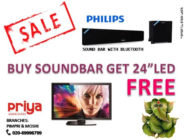 Ganesh utsav special schemes, Buy Philips Sound bar for Rs. 16990/- only and get 24