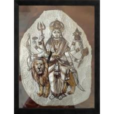 Durgai Metal Embossing Paintings for Sale  Durgai Metal Embossing Paintings Price is just Rs. 1500/- Metal Embossing Paintings are made of 24 carat gold and semi precious stones which is good return gifts for Weddings , House warming ceremo - by Sandiv Art Gallery, Coimbatore