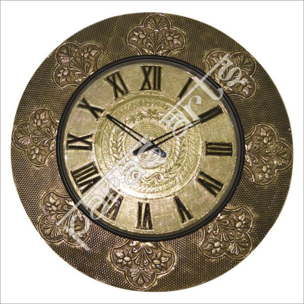 BRASS FITTED WOODEN WALL CLOCKS with ANTIQUE DIAL made by the hands of the expert Craftsman of Jaipur with the fineness Quality of Embossed Brass Design on it. Brass Fitted Wooden Wall Clocks with Antique Dial made of quality Wood with Brass Design Embossed on it with the Antique Design and Quality Deign Dial which make this item perfect for the home decoration as well as Gift purposes. We