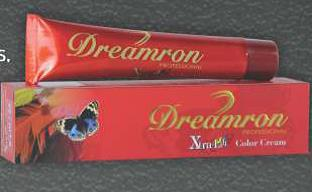 Dreamron  X'tra Lift Color 50 ml Hair Colouring Done In One Easy Step. Choose Form 8 Stunning Shades That Enhances Color Intensity. Retention and Lightening Power. Adds Direct Lift to Dark Hair with Unique Conditioning Agents like Vitamin C - by Dreamron India Inc, Bangalore