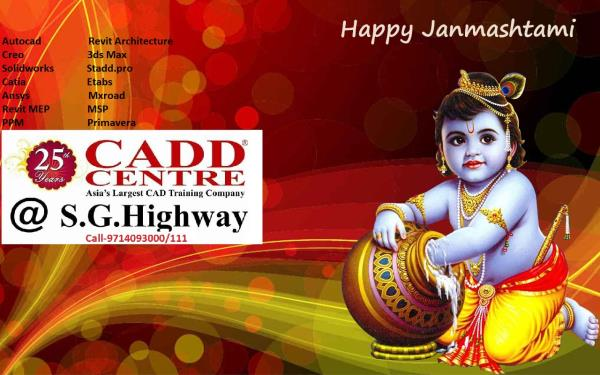 Cadd Centre @ S.G.Highway Wishes you Happy janmashtami.. may lord krishna showers all his blessing on you. May you get a lot of Happines in life.. Jay shri krishna. - by CADD CENTRE @ S.G.HIGHWAY, Ahmedabad