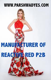 REACTIVE RED P2B REACTIVE RED PRINTING DYES.  REACTIVE PRINTING DYES TEXTILE PRINTING DYES. MANUFACTURER OF REACTIVE RED P2B - by Parshwanath Dyestuff Industries, Ahmedabad
