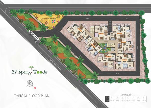 SV Spring Woods 2& 3 Bhk flats available for sale Near Shell Petrol Bunk, Kanakapura Main road.. Which ensures the royal life with Attractive Amenities  - by SV Infraa, Bangalore