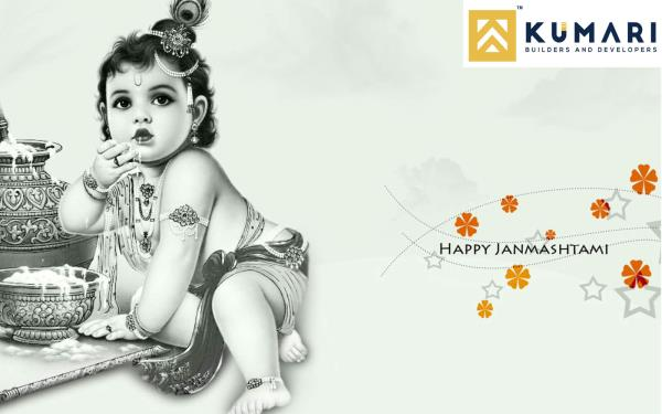 Wish You All A Very Happy Krishna Janmashtami From #KumariBuildersAndDevelopers - by Kumari Woods & Winds, Bangalore Urban