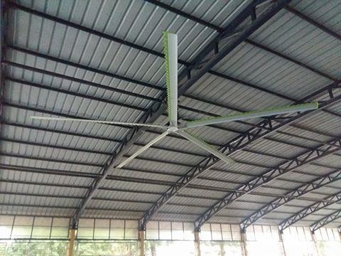 HVLS Fan installed at a Temple. 24ft size 5Blade - by MGTech, Ahmedabad