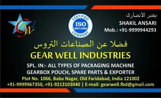 GEARWELL INDUTRIES IMPORTS EXPORTS markting call +919999944293