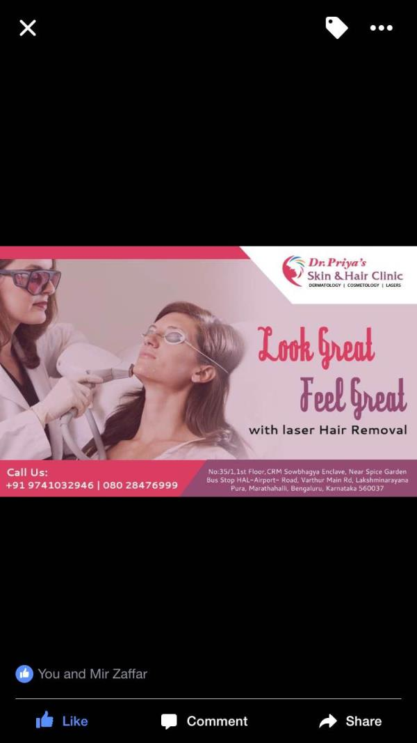 Laser hair removal treatment at Marathahalli  Laser hair removal treatment at Whitefields  www.drpriyaskinandhairclinic.comj