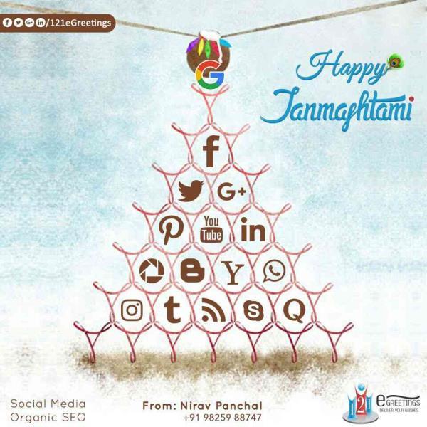 Happy Janmashtami....!!! - by 121eGreetings - Social Media & Google Promotion, Ahmedabad