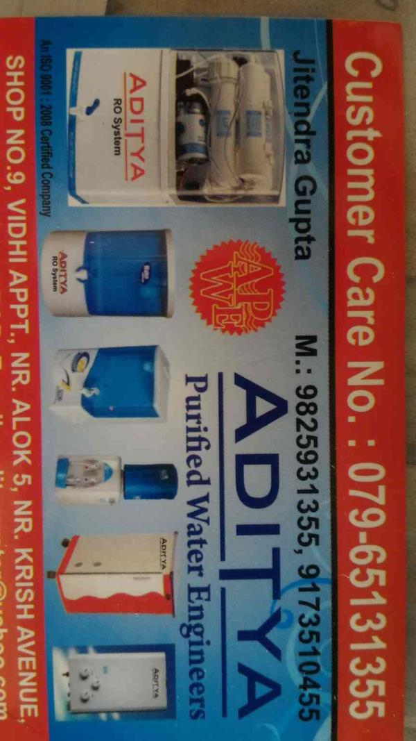 Looking for Domestic RO plant or water purifier???  Welcome to Aditya Purified Water Engineers is one stop solution for your requirement. We have wide range of products in Domestic RO plant in Ahmedabad Gujarat India