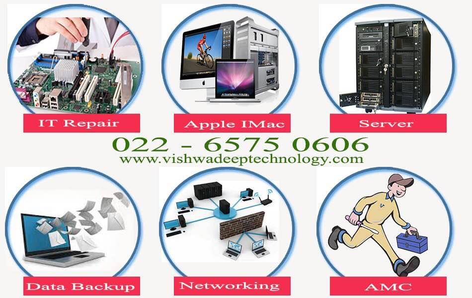 #ITRepair #Apple #Server #DataBackup #Networking #AMC  www.vishwadeeptechnology.com Any brand Any Issue fix 022-65750606 - by Vishwadeep Technology, Mumbai Suburban