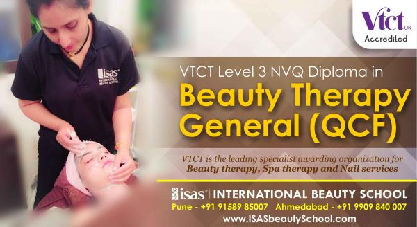 VTCT Level 3 NVQ Diploma in Beauty Therapy General (QCF)  Enroll Today !  Only @ ISAS, International Beauty School !  Certificate & Diploma Courses: #Creative_Hair_Designing #Advanced_Beauty_& _ #SpaTherapy #Personal_Grooming #Professional_ - by ISAS Ahmedabad, Ahmedabad
