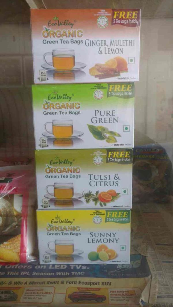 Introducing eco valley green tea. 100  percent organic green tea. Now available@ Chawla Essence Mart.. Adding flavour to life.. - by CHAWLA ESSENCE MART, Hyderabad