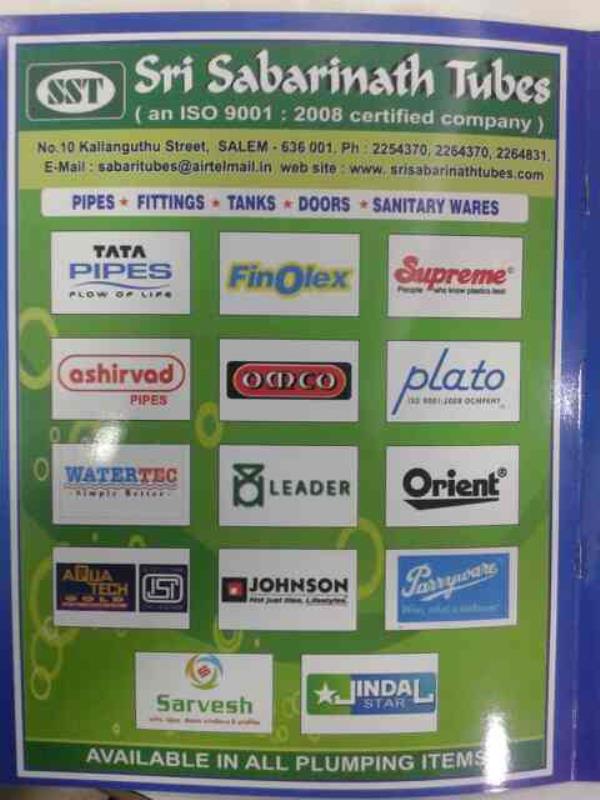 our brands - by Sri Sabarinath Tubes, Salem