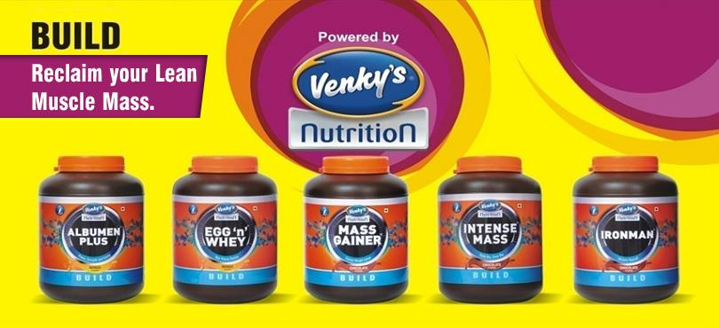 Available at Clubfit !!!  Venky's Nutrition which  is a popular name in the health & sports industry. Making the optimum use of the modern technology and concentrating on quality, Venky's Nutrition has successfully fulfilled their commitmen - by CLUBFIT  :  Be a part of it., Kolkata