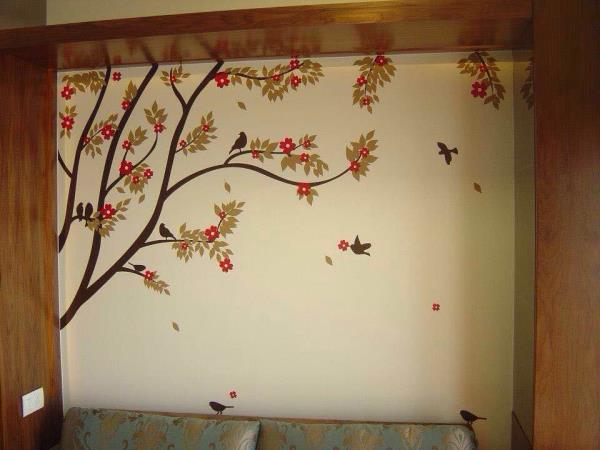 Give life to your plain walls. Get nature home with Shellyswalls. Wall Art, Wall Decal, Wall Tattoos, Customised Art. Www.shellyswalls.com - by Shellys Walls, Mumbai