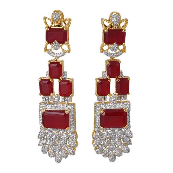 Earrings Made from high quality colour crystal and Cz . With fine finished and gold plated . Beast designs for Weeding Earrings .We are Manufacturer of fashion Earring in India . - by P B Chopra Impex, Jaipur