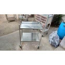 Hospital Instrument Trolley  We are engaged in offering a wide range of Hospital Instrument Trolley. These are designed with adequate number of shelves which provides maximum storage space. Its remarkable features like compact design, high  - by S M INDUSTRIES, Coimbatore