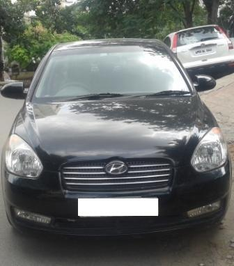 HYUNDAI VERNA CRDI SX VGT:MODEL 01/2008, KM 67695, COLOUR BLACK, FUEL DIESEL, PRICE 385000 NEG.USED VEHICLE FOR SALE COMPLEAT SHOWROOM TRACK. - by Nani Used Cars, Hyderabad
