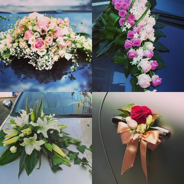 Wedding car floral decoration ideas for an auspicious start to the wonderful journey you are going to embark Inspired Wedding Decor and wedding planning in kanpur  - by Pankhuri Florist, Kanpur Nagar