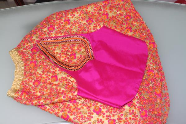 boutique in Bangalore  lehenga and blouse for a little girl.  http://www.thecutfashionboutique.com - by The Cut Fashion Boutique, Bangalore