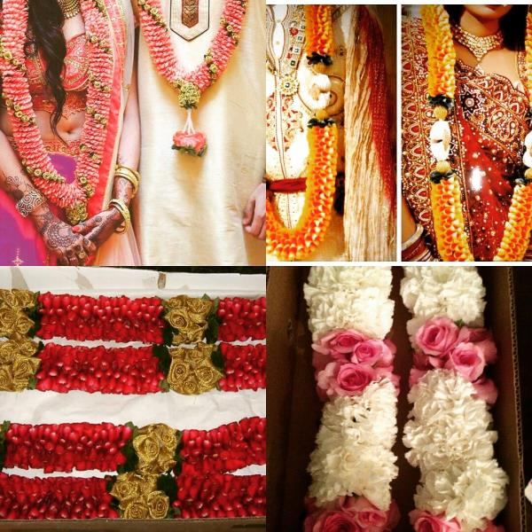 These awesome wedding jaimala is a perfect way to unite two souls. Highlighting the traditional indian culture, garlands are made of rose petals, handcrafted, to match with lehenga and sherwani  - by Pankhuri Florist, Kanpur Nagar