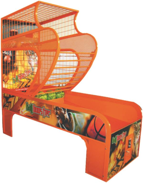 Ball Booster  Ball Booster 1 Player is a coin operated basketball arcade game manufactured by Super Amusement Games. It comes with all the updated features that will enthral any basket ball enthusiast.  - by SUPER AMUSEMENT GAMES, Ahmedabad