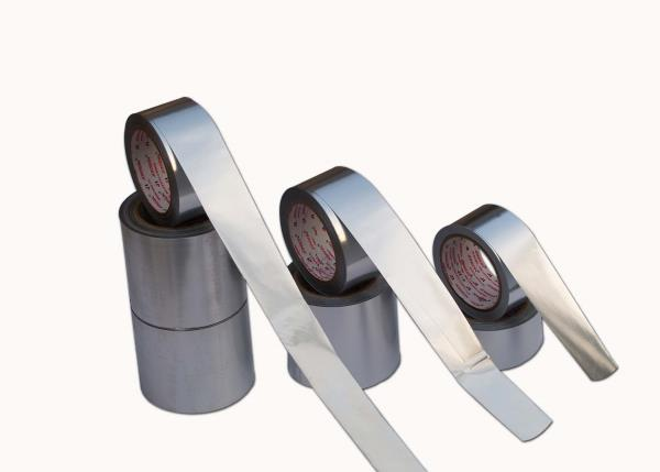 Aluminium Tapes are used in air-conditioning, sealing high cold & hot areas, conductivity of electricity, cable manufacturing, as reinforcement for HVAC industry.   - by Jonson Tapes LTD., New Delhi