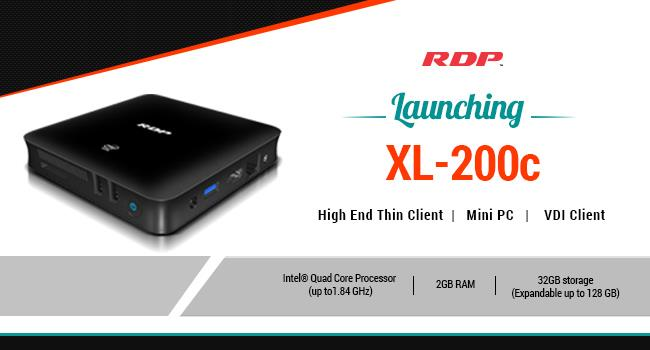 RDP Launched most Versatile Thin Client in Indian Market   (Thin Client Computers in Mumbai | Thin Clients in Mumbai | VDI Clients in Mumbai)   RDP unveiled XL-200C - a versatile Thin Client Can be worked as Mini PC & VDI Client. Which has - by RDP, Mumbai