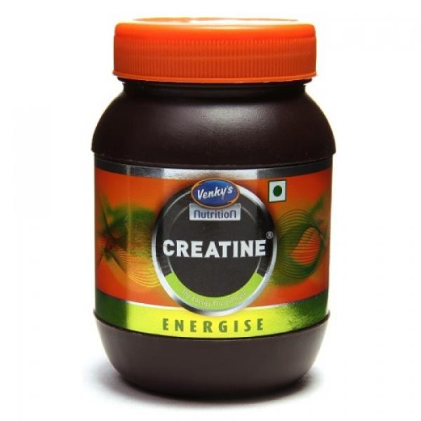 Buy at lowest prices from india proteins.  http://indiaproteins.com/venkys-creatine-200gm?search=creatine  Venky's Creatin avoids production of lactic acid and thus helps in prevention of muscle soreness. Venky's Creatin assures purity, qua - by India Proteins, New Delhi
