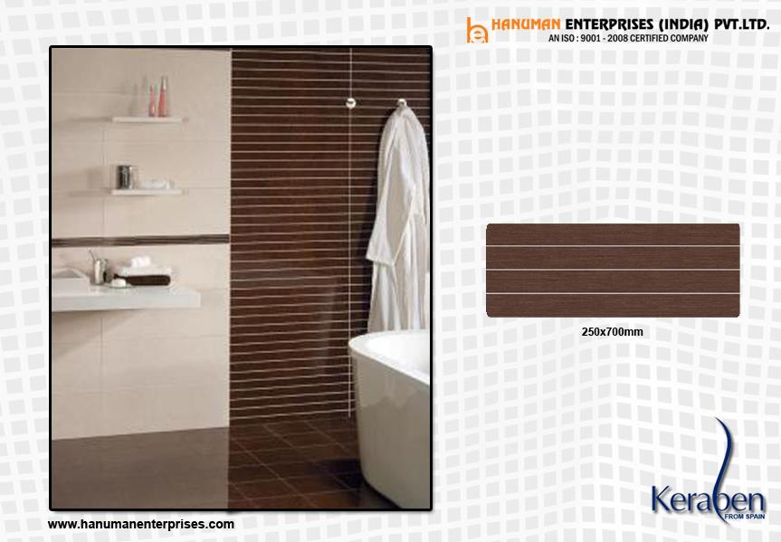 Keraben Wall Tiles Provides a clean and classic look to any bahtroom with timeless appeal. For more info visit at www.hanumanenterprises.com - by Hanuman Enterprises India Pvt. Ltd., Hyderabad