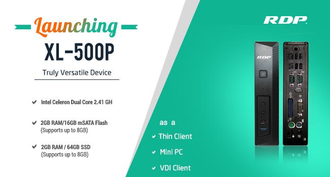 Introducing XL-500P - a versatile Thin Client   (Thin Clients in Mumbai | Thin Client Solutions in Mumbai | Mini PCs in Mumbai)   RDP introduced the company's latest innovation XL-500P, which works as Thin Client, Mini PC and VDI Client wit - by RDP, Mumbai