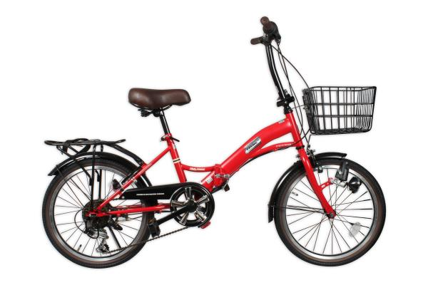 Peachbag proudly presents COSMIC 6 SPEED 20 INCH FOLDING BICYCLE WITH DYNAMO  RED. Best features of this folding bicycle are :  -THE ADDITIONAL ATTRACTIVE FEATURES ARE THAT IT HAS A DYNAMO WITH HEAD LIGHT -A BASKET IN THE FRONT, REAR DRUM B - by PEACHBAG, Chennai