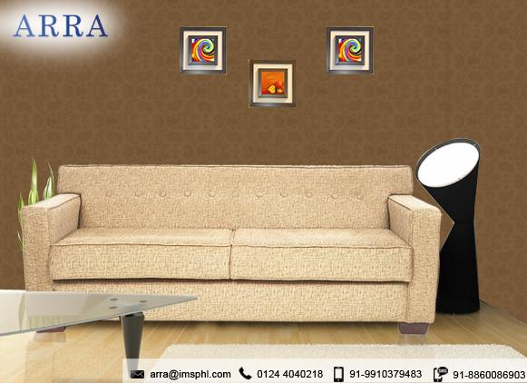 Best Designer Sofa Manufacturer in gurgaon:  The amazing ARRA Indus 3 Seater Sofa can really jazz up your home and make your interiors look really fancy. The lovely shade of brown used here can match with anything. for more details: www.arra.co.in