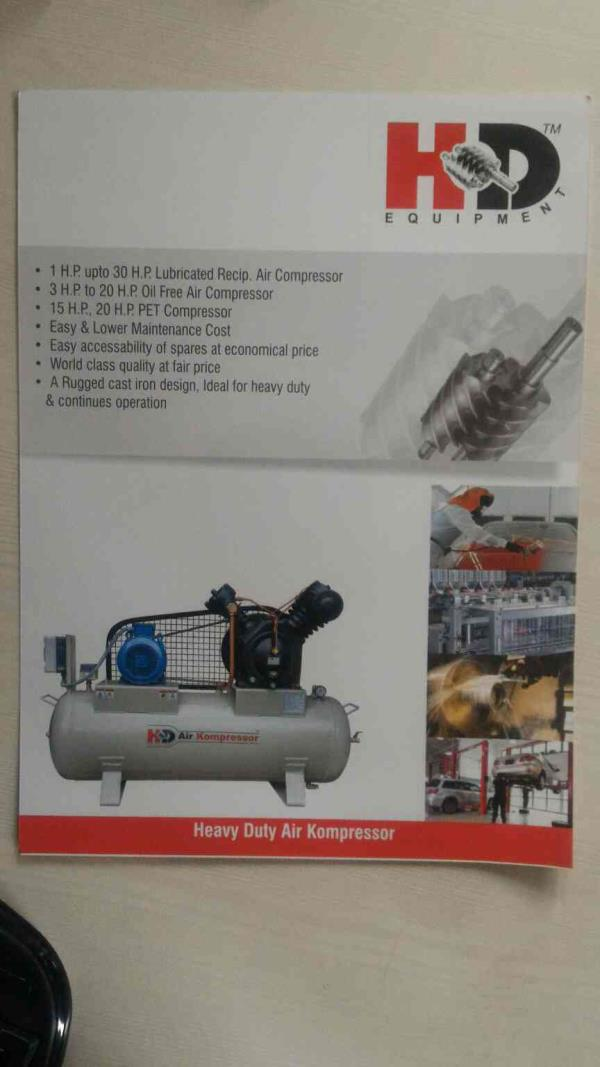 HD EQUIPMENTS is one of the leading manufacturer andsuppliers exporters of Air Compressor in India