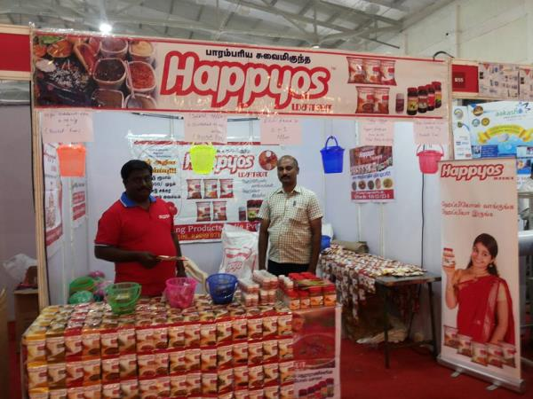 HAPPYOS Stall @ Dinnamalar Smart Shoppers Expo 2016.. CODISSIA Coimbatore.. - by SP Caring Products India Private Limited, Coimbatore