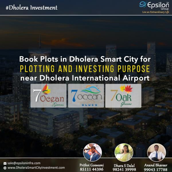 Book #Plots in #Dholera #Smart #City For #Plotting And #Investing Purpose near Dholera #International #Airport #Epsilon - by Dholera Smart City Residential Plots, Ahmedabad