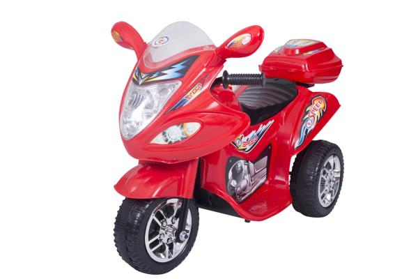 Peachbag proudly presents HLX-NMC BATTERY OPERATED FUN BIKE RED. Best features of this kids battery operated ride on bike are :  -SPORTY BIKE DESIGN -FRONT AND REAR LED LIGHTS  -MAX SPEED : 4KM/HR  -AGE GROUP : 3 TO 6 YEARS -POWER : 6V-4.5A - by PEACHBAG, Chennai