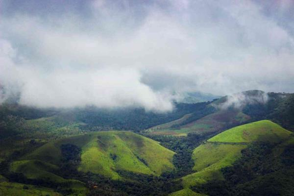 Chickmagalur, Karnataka scenery, beautiful, nature, lush green, fog, clouds, monsoon, photography, canon, green.